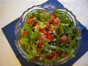 Sałatka z zielonej sałaty