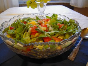 Sałatka z zielonej salaty